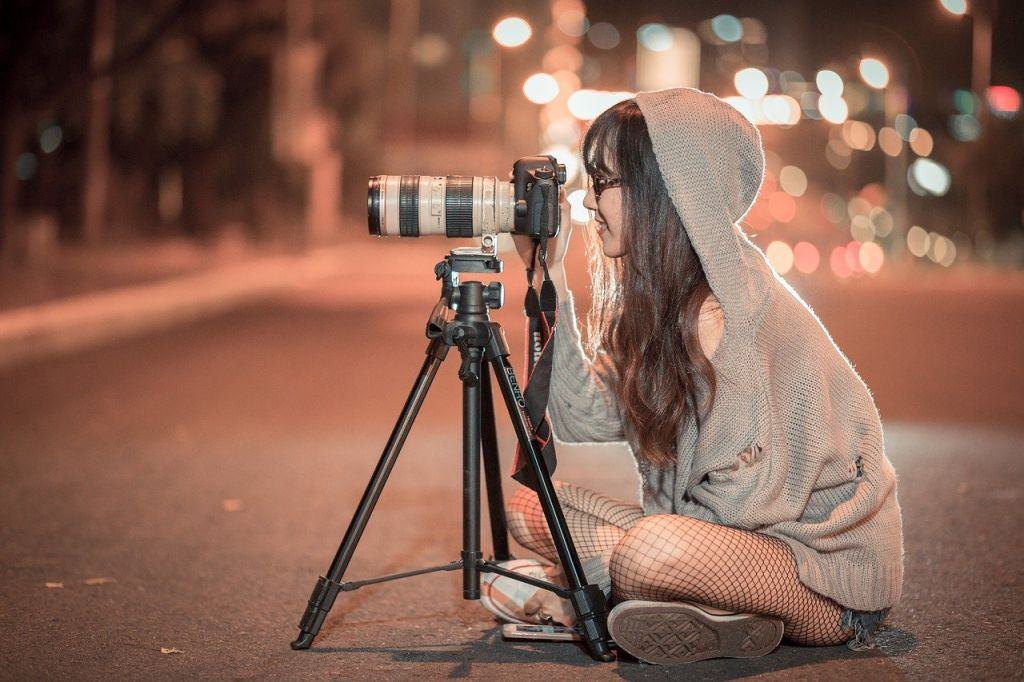 photo femme nuit